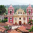 Calvario church in Leon Nicaragua.