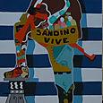 Sandino mural in Leon Nicaragua